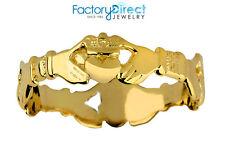 Gold Claddagh Eternity Ladies Ring