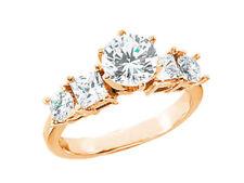 1.80ct Ct Diamante Abierto Galeria Anillo de Compromiso Princesa Redondo Detalle