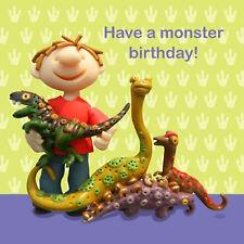 Hanno un mostro compleanno! Saluti cartolina ~ Divertente & Stravagante ~ gratuita consegna rapida