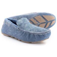 UGG Henrick Twinface Driving Moccasins Slip-on Loafers Slippers - Denim Blue