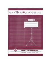 STAR Notenheft A4 Linatur 14 8 Blatt | Brunnen 1046846 | Notenschreibheft