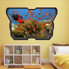 Aquarium Fishes Kids Bedroom Wall Stickers Mural Home Office Nursery Decor AV1
