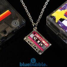 Bluebubble HEY DJ Funky Tape Necklace 80s 90s Disco Pop Retro Cool Fun Festival