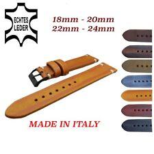 Vintage Italy Echt Leder Uhrband 18,20,22,24,mm Uhrenarmband Leather Watch Strap