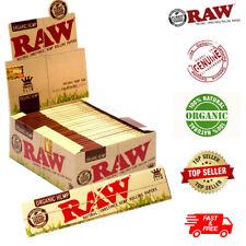RAW ORGANIC HEMP KING SIZE Slim Genuine Rolling Paper Cigarette 1-50 Booklets