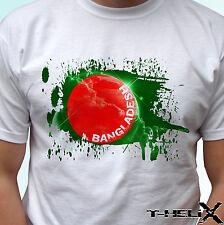 Bangladesh flag - white t shirt top design - mens womens kids & baby sizes