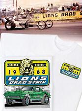 Lions Drag Strip  - Lion's 1966 Corvette Gasser T-Shirt - Dragster Vintage 427
