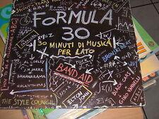"LP 12"" FORMULA 30 EX+++ TEARS FOR FEARS VANNELLI BAND AID GIBB ELTON JOHN ABC"