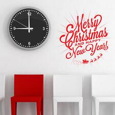 Christmas wall sticker new year shop window xmas sign art xm10