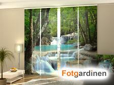 Fotogardinen Wald, Schiebevorhang Schiebegardinen 3D Fotodruck, Maßanfertigung
