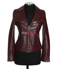 Rachel Maroon Ladies Smart Retro Vintage Style Real Sheep Leather Jacket