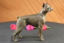 Signed Moigniez English Bulldog Boxer Bronze Sculpture Art deco Hotcast Figurine