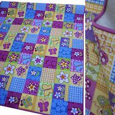 coloré Tapis De Jeu Papillon Fleurs Patchwork tapis neuf
