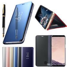 For Samsung Galaxy S10 S10E S9 S8 A10 A8 J6 Smart View MIRROR Wallet Flip Cover