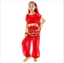 KID's Blouse+Pants+Belt+Head scarf 5pcs set Belly Dance Costume Dancewear #11