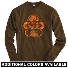 Oranges Long Sleeve T-shirt LS - Espana Vintage Sign Horse Knight - Men / Youth