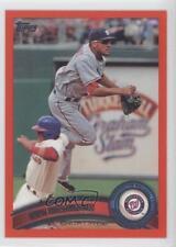 2011 Topps Factory Set Red #308 Ian Desmond Washington Nationals Baseball Card