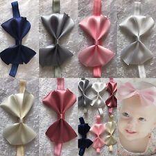 Big Satin Bow Baby Girl Headband Soft Elastic Band Variety Hair Accessories+ Lot