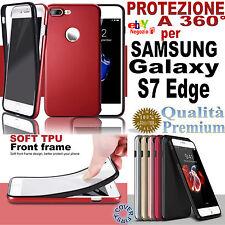 COVER FRONTE RETRO GOMMA TPU COLORATA PROTEZIONE 360° Per SAMSUNG Galaxy S7 Edge