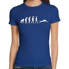 Evolution Schwimmen Damen T-Shirt | Schwimmer | Schwimmbad | Pool | Sport