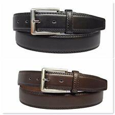 Homme cousu pantalon 3.5 cm solide business casual élégant ceinture en cuir-B122