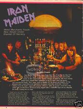 IRON MAIDEN PINUP heavy metal 80's Piece of Mind
