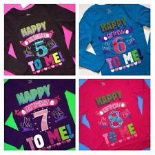 NEW 5th 6th 7th 8th Girls BIRTHDAY Shirts 5 6 7 8 Years