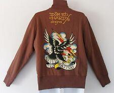 Ed Hardy CHRISTIAN AUDIGIER~NEW YORK Track sweat shirt Jacket TATTOO EAGLE~Men L