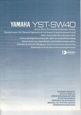 YAMAHA - YST-SW40 - Manual Bedienungsanleitung - B2257