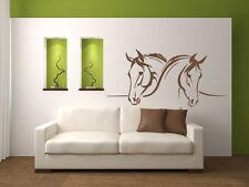 Aufkleber Wandtattoo  2 Pferde  Pferdeköpfe Wandaufkleber wu141