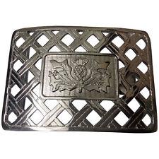 Scottish Thistle Design Kilt Belt Buckle High Quality Chrome Finish