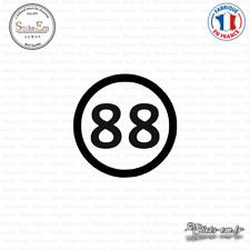 Sticker Département 88 Vosges Alsace Champagne Ardenne Lorraine Epinal Decal
