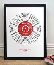 30th Birthday Present - Personalised framed song print - Vinyl Record Pop Art
