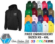 Personalised Embroidered Hooded Sweatshirt Hoodie, Workwear, Uniform, Business