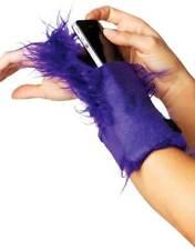 Adult Women Furry Wrist Wallet Purse