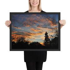Enhanced Matte Paper Poster   Framed Wall Art   Botanical Garden Sunset. 5 Sizes
