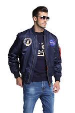 2018 NASA letterman varsity american ollege bomber flight jacket for men's Coat