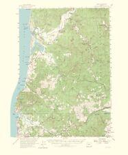 Topographical Map Print - Hebo Oregon Quad - USGS 1965 - 23 x 27.67