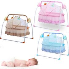 Electric Baby Crib Kids Cradle Infant Rocker Auto-Swing Sleep Bed Cots AU STOCK!