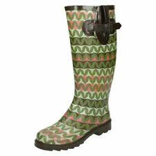 Ladies Spot On Zig Zag Print 'Wellington Boots'