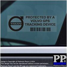 5 x Volvo GPS Tracking Device Security Stickers--Car Alarm Tracker,BLACK