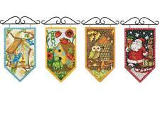 Debbie Mumm Cross Stitch Kit Spring, Summer, Fall, Winter, Mini Banner