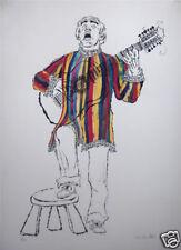Bob Hamilton - S/N Lithograph - Guitar Singer (1970s)