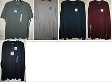 NWT Croft & Barrow long short sleeve Henley shirt knit 3 button neck Cotton Soft