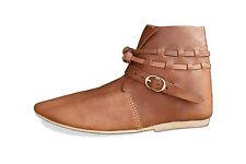 Alto Medioevo metà Stivali Medioevo Scarpe Pelle Medioevo scarpe morbide