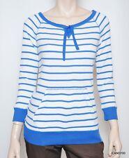 Nwt $69 LRL Ralph Lauren Active Cotton Thermal Top Tee T-Shirt ~White/Blue *L
