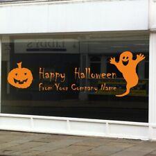 PERSONALISED HALLOWEEN WALL STICKER vinyl haunted shop pumpkin decal window art
