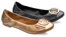 Chaussures Femme Ballerines Souples Pliables Grandes Pointures Première Cuir