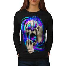 FASHION MORTE TESCHIO colore delle donne manica lunga T-shirt Nuove | wellcoda