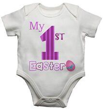 Il mio primo PASQUA BAMBINA PERSONALIZZATA BABY Gilet BODYSUITS per ragazzi e ragazze